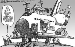 Space Shuttle Retired by Mike Keefe