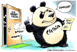 China and US debt by Dave Granlund