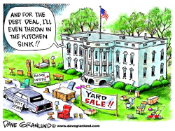 Obama and debt limit deal by Dave Granlund