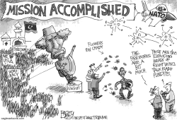 Mission Accomplished—No Really  by Pat Bagley