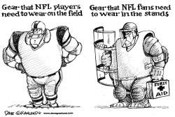 NFL fan violence by Dave Granlund