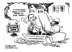 Obama surveys hurricane flooding by Jimmy Margulies