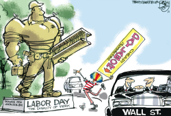 The American Worker by Pat Bagley