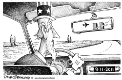 Sept 11 rearview mirror by Dave Granlund