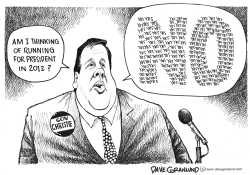 Gov Christie says no by Dave Granlund