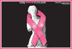 Pink Venus Breast cancer awareness by J.D. Crowe