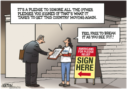 Americans For Pledge Relief- by RJ Matson