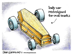 Indy car redesigned by Dave Granlund