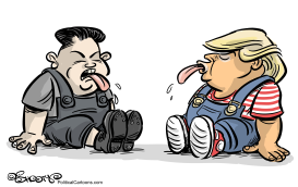 Kim Jong-un Vs Donald Trump by Martin Sutovec