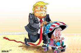 Trump and Saudi King by Sabir Nazar