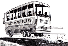 Davos in the Desert by Sabir Nazar