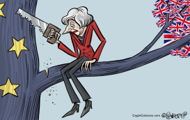 Theresa May at Work by Martin Sutovec