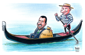 Salvini and Putin by Gatis Sluka