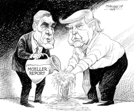 Trump Washes His Hands of Mueller by Petar Pismestrovic