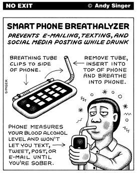 Smartphone Breathalyzer by Andy Singer