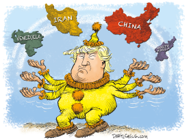 Trump Juggles Troubles by Daryl Cagle