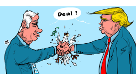The peace deal by Emad Hajjaj