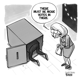 EU parliament election vote counting by Gatis Sluka