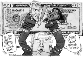 Trump Tubman Jackson Punch and Judy by Daryl Cagle
