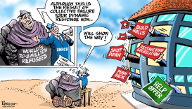 World on refugees by Paresh Nath