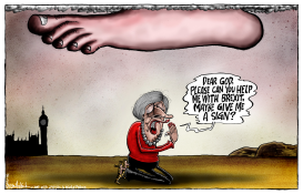 Theresa May Requests Divine Guidance by Brian Adcock