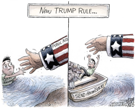 Legal immigration by Adam Zyglis