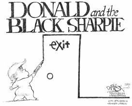 Donald and the Black Sharpie by John Darkow