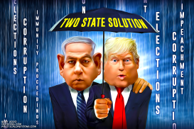 Two State Solution by Bart van Leeuwen