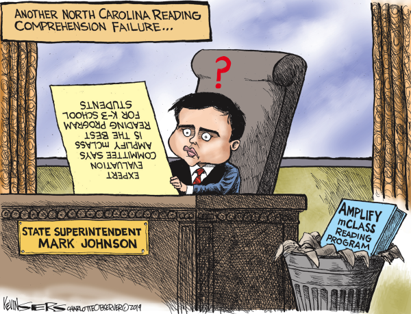 Image result for charlotte observer cartoon mark johnson